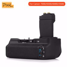 Pixel Verticale Battery Grip Holder per Canon 550D 600D 650D 700D Rebel T2i T3i T4i T5i lavoro con LP-E8 batteria di ricambio BG-E8(China)