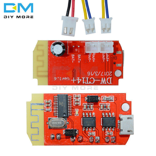 Micro USB DC 3.7V 5V 3W Digital Audio Amplifier Board Double Dual Plate DIY Bluetooth Speaker Modification Sound Music Module