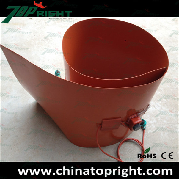 2000w Flexible Silicone Rubber Drum Band Heater with adjusted thermostat