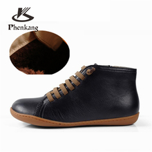 Men winter Boots Genuine sheepskin leather casual ankle shoes Comfortable quality soft handmade flat Shoes with fur black red men winter boots 100% genuine cow leather brogue shoes casual ankle shoes comfortable quality soft handmade flat shoes black red