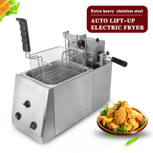 ITOP 11L Commercial Auto Lift-Up Deep Fryer With Timer Temperature Control Fryer Potato Chip Chicken Electric Frying Machine df5g free standing electric temperature controlled commercial deep donut large capacity chicken chip fish fryer with basket