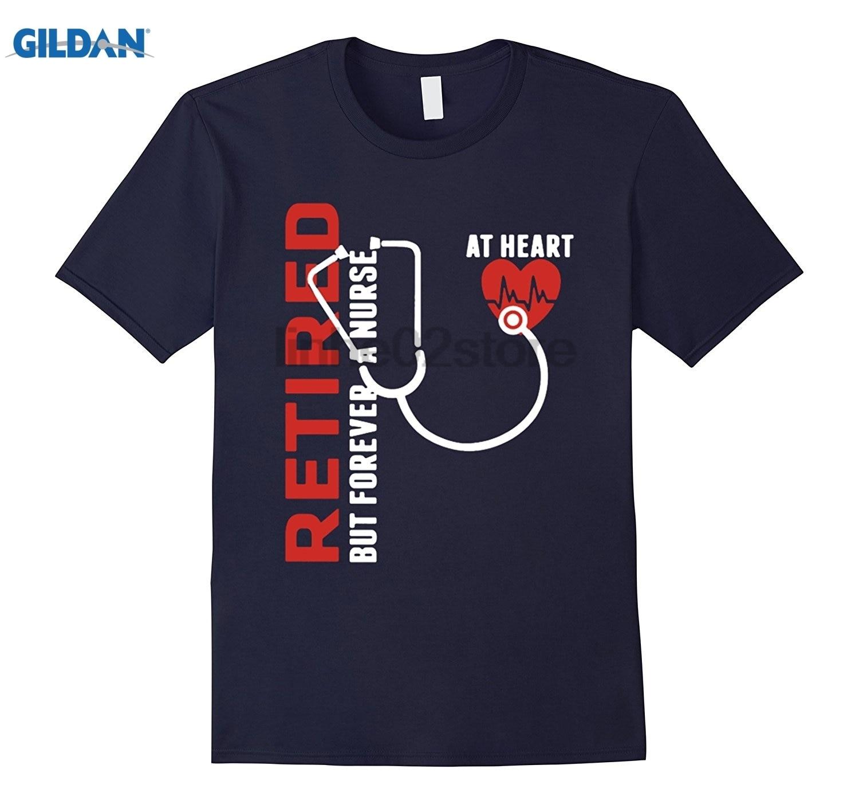 GILDAN Retired But Forever A Nurse At Heart shirt Dress female T-shirt Mothers Day Ms. T-shirt