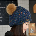Inverno gorros crochet das mulheres Tampão feito malha de lã das Mulheres por atacado para 2016 de moda de nova cap