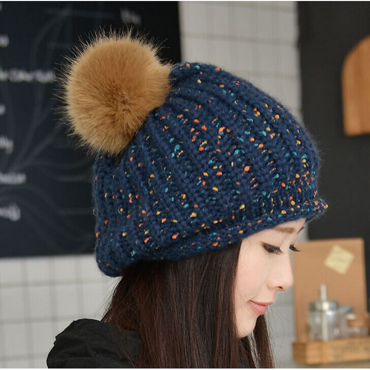 Winter Beanies Knit Womens Hat Winter Hats For Women Ladies Beanie Girls Skullies Caps Wool Warm Hat for 2017
