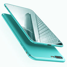 цена на 6 Colors for iPhone 6/7/8 Plus X Mint Green Luxury Matte Ultra Thin Fitted Case Protection Phone Cases Cover For iPhone X 6S 7 8