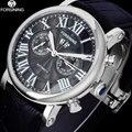 2017 forsining relógio dos homens marca de negócios de moda relógios de pulso de luxo automático mecânica data semana quente preto relógios de pulso