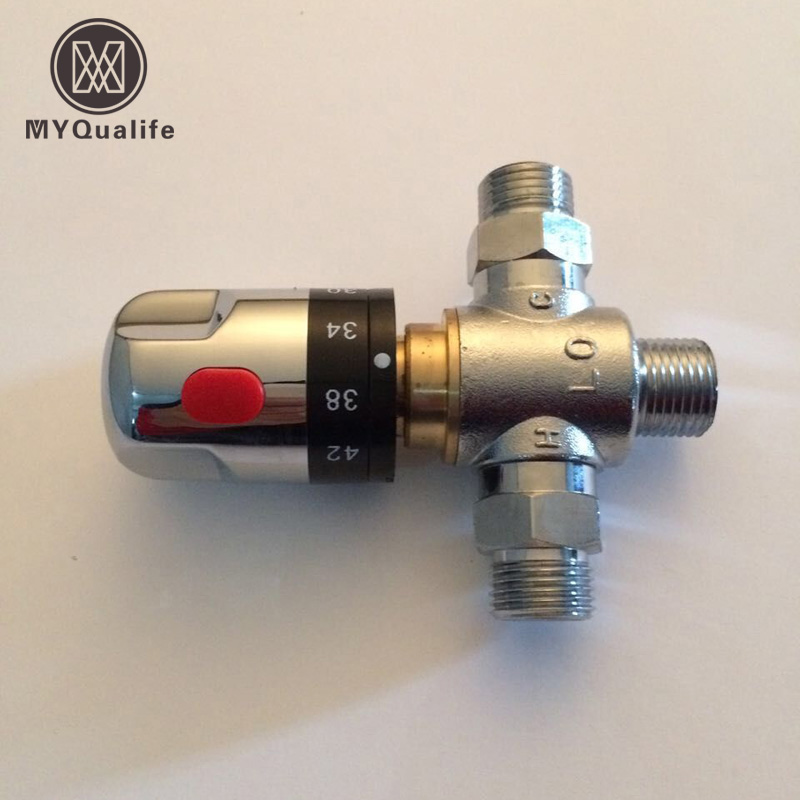 Brass Thermostatic Mixing Valve Constant Water Temperature: Brand New Brass Control The Mixing Water Temperature