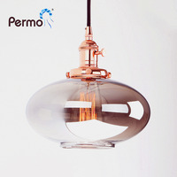 PERMO Vintage Pendant Lights Reflective Glass Retro Luminaire Loft Pendant Ceiling Lamp Modern Hanglamp Lights Fixture