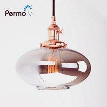 Permo ヴィンテージペンダントライト反射ガラス照明器具ペンダント天井ランプリビングルームのための Hanglamp ライト器具 plafondlamp