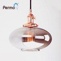 Permo Vintage Pendant Lights Reflective Glass Luminaire Pendant Ceiling Lamp for Living Room Hanglamp Lights Fixture plafondlamp