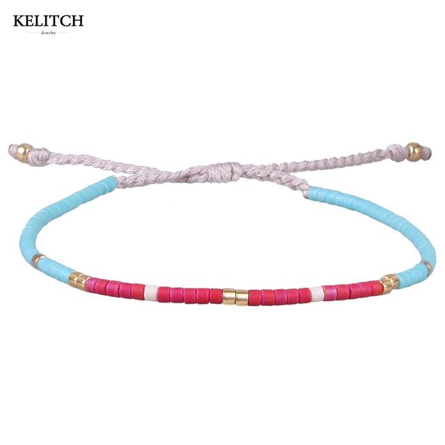 66e577f4b3f7e US $4.89 30% OFF|KELITCH Bracelets Jewelry Bohemian Bracelets Handmade Blue  Red Crystal Seed Beads Friendship Bracelets For women girl gifts-in Strand  ...
