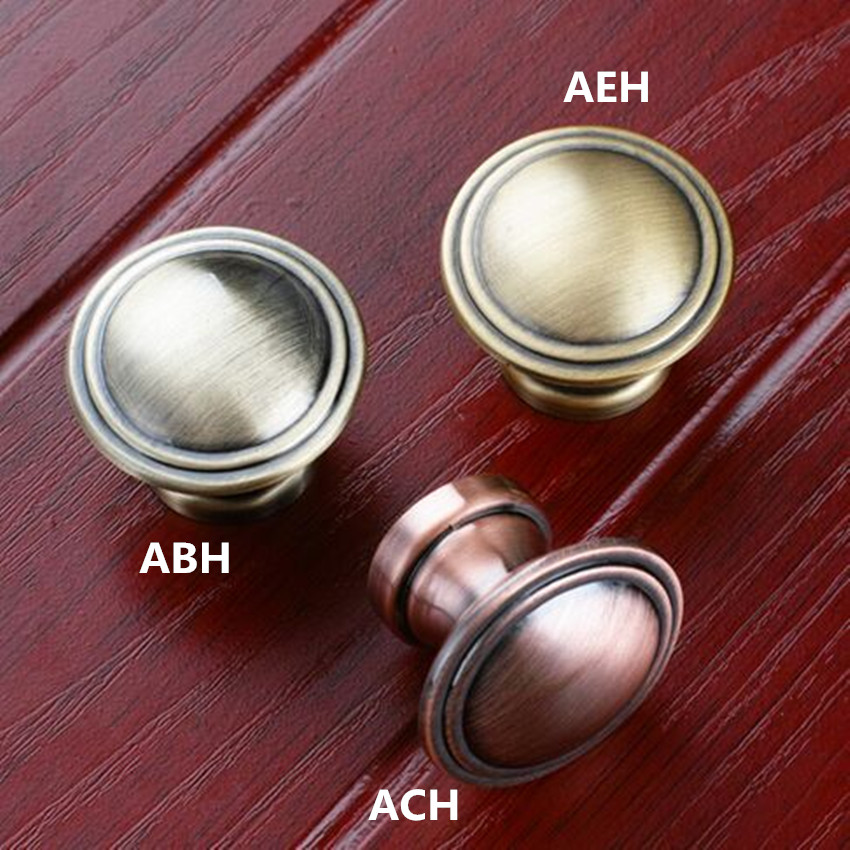 28mm antique copper drawer shoe cabinet knobs pulls antique brass dresser cupboard door handles bronze handles retro furniture кольца кюз дельта 311439 d