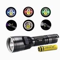 NITECORE CU6 Linterna LED XP-G2 (R5) 440LM LED con 3000 mW 365nm Ultravioleta UV Táctico w/nitecore NL188 18650 3200 mah batería
