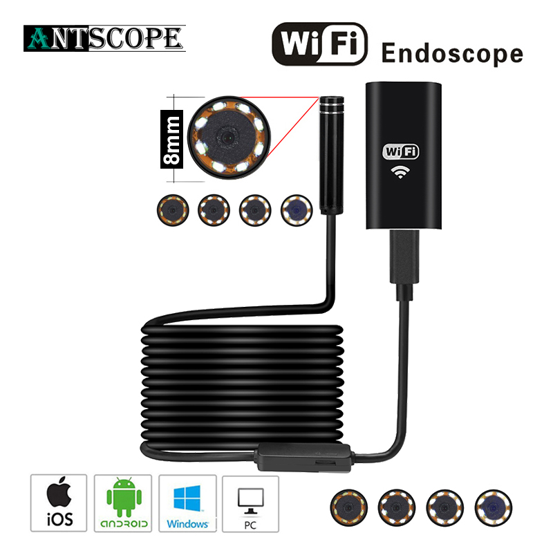 Best buy ) }}Antscope Wifi Endoscope Camera Android 8mm 2.0MP 720P Borescope