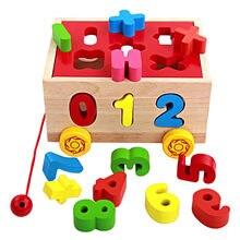 Arrastre de madera con números