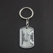1PCS Stainless Steel Grill Key Chain Keychain Metal Chrome Ring For Jeep Wrangler CJ JK TJ YJ XJ Car Styling Newest