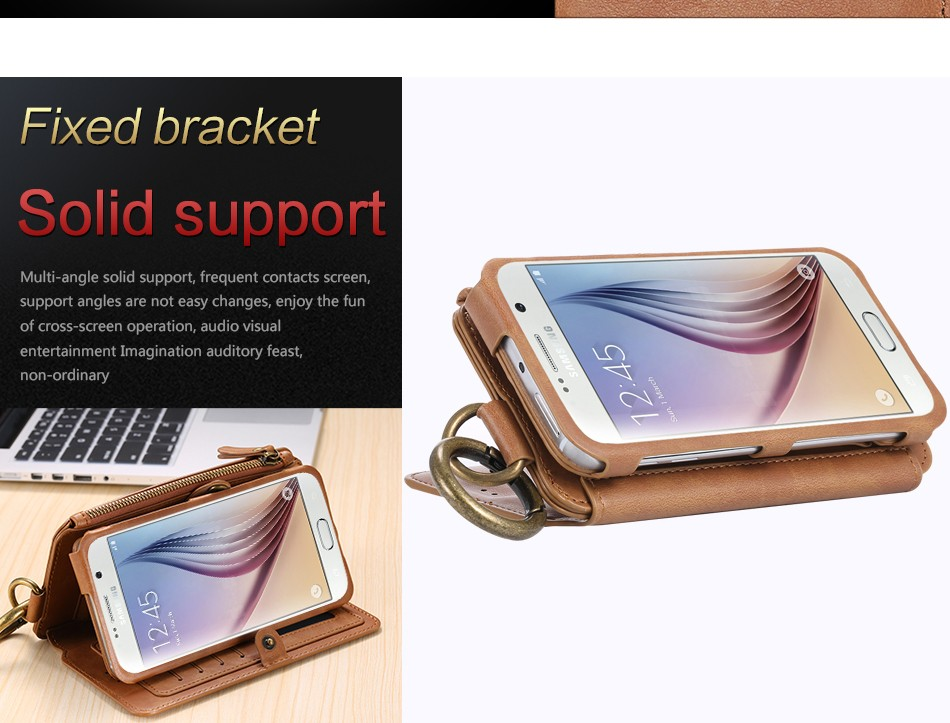 Floveme retro skóra telefon case do samsung galaxy note 3 4 5/s7/s6 edge plus metalowy pierścień coque karty portfel ochronne pokrywa 3