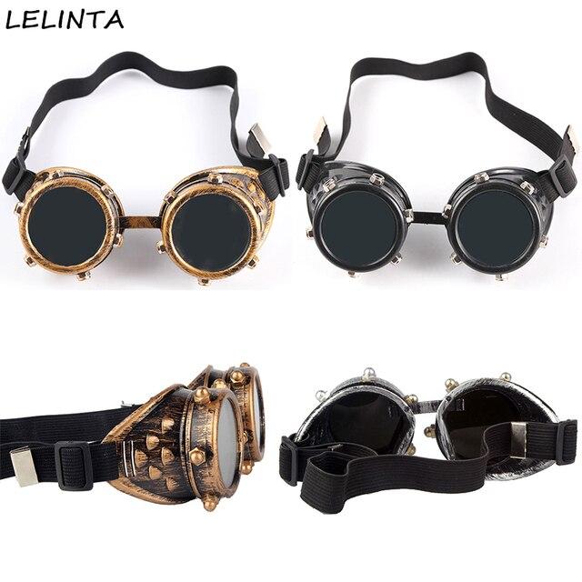 ae1cb72b81818 LELINTA Parafuso porca Decoração Do Vintage Óculos Steampunk Óculos Óculos  de Solda Punk Gótico Cosplay Festa