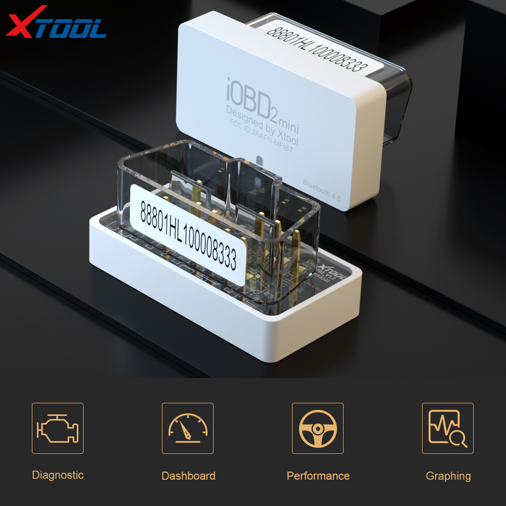 Xtool Bluetooth OBDII OBD2 Car Diagnostic Scan Tool IOBD2-MFI for iPhone iPad and Android Devices White