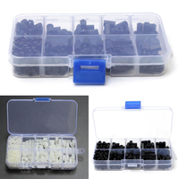 300pcs M3 Nylon Screw Kit Hex Column Standoff Spacer Screw Nut Assortment Kit With Plastic Case