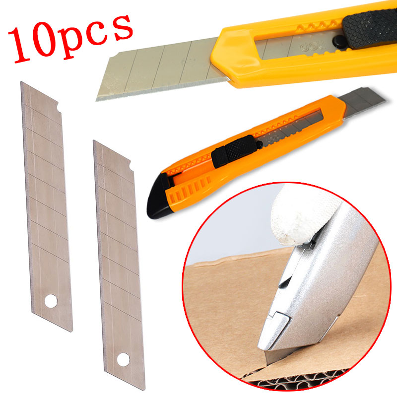 10PCS/Lot 18MM Width Art Wide Knife Blade  Steel Cutter Blade Utility Knife Student Stationery Office Cutting Accessories