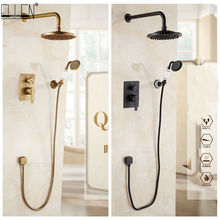 Shower-Set Wall-Mounted Bronze Antique Hot And Cold-Els10 Oil-Rubble In-Wall Finished