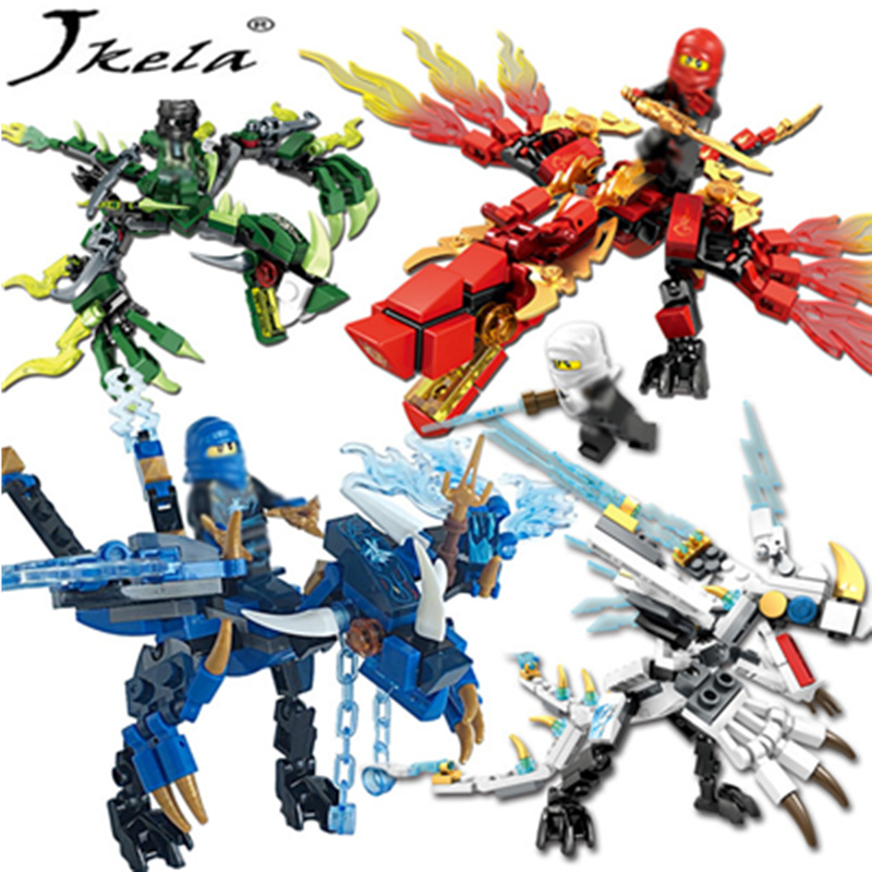 [Jkela] Ninjagoes Dragon Building Block toys Kai Jay Cole Zane Lloyd Wu Nya Garmadon Compatible With Legoingly Ninjagoes Dragon bela 911pcs ninjagoes epic dragon battle building block set jay zx chokun minifigures kids toy compatible with legoes 9450