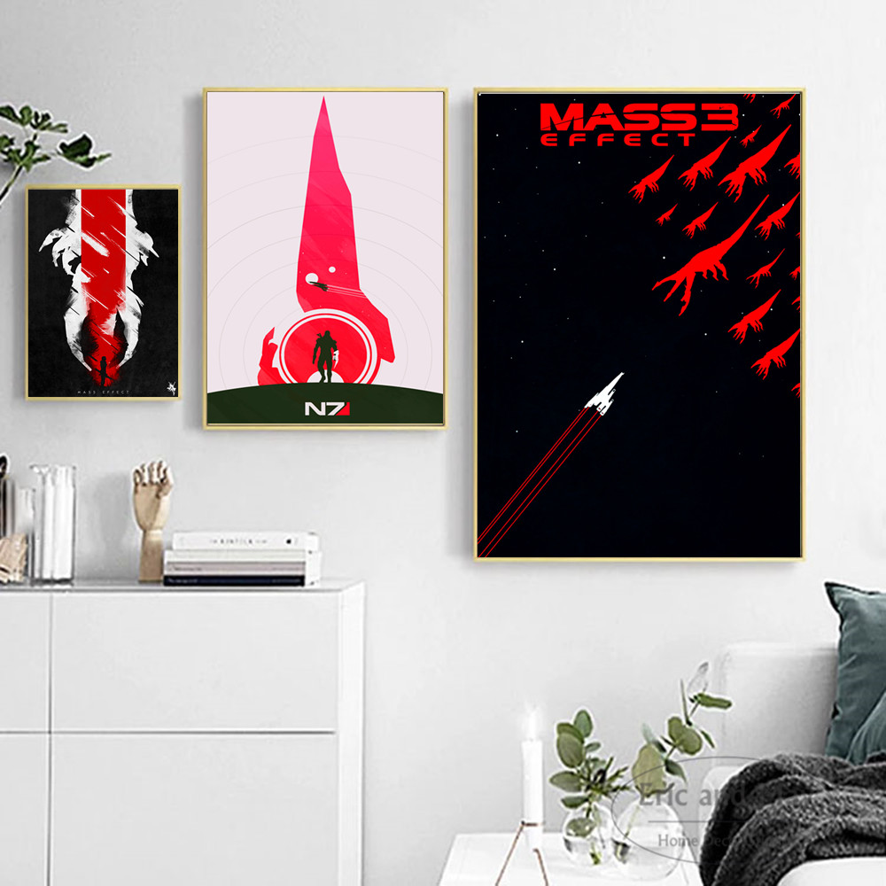 Mass Effect Vintage Minimalist Art Canvas Art Print Painting Modern Wall Picture Home Decor Bedroom Decorative Posters No Frame(China)