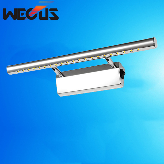5W 40cm Antimist Bathroom Mirror Front Wall Light Luminaire Stainless Steelswitching LED Lamps