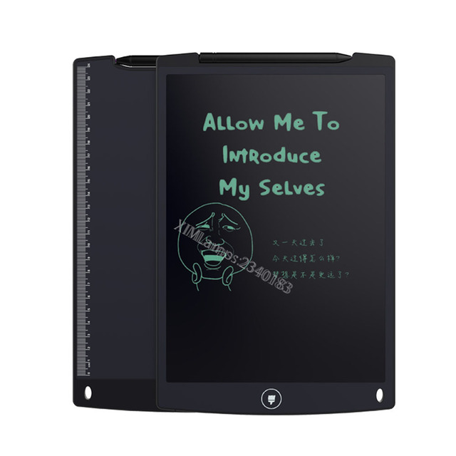 LCD Writing Tablet Graphics Tablets XIM 12 inch Plan Pad E-Writer Handwriting Pads Portable Tablet Board (12inch,BLACK)
