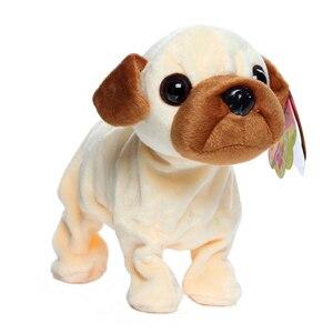 Image 5 - الحيوانات الأليفة الإلكترونية التحكم الصوتي روبوت الكلاب النباح الوقوف المشي لطيف التفاعلية لعب الكلب الإلكترونية أجش Pekingese لعب للأطفال