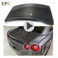 Car Accessories R35 GTR Trunk Cover Carbon Fiber GTR Trunk Bootlid Car Styling Body Kit For Nissan R35 GTR OEM Rear Trunk Cover