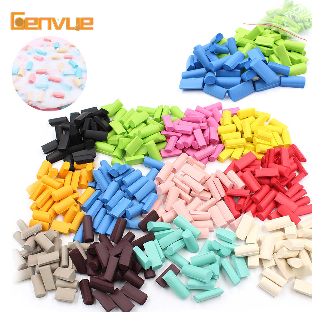 Foam Chunks Addition for Slime Filler Decoration Beads Strip Balls Fluffy Clay Accessories Charms Sponge Toys for Antistress Kid