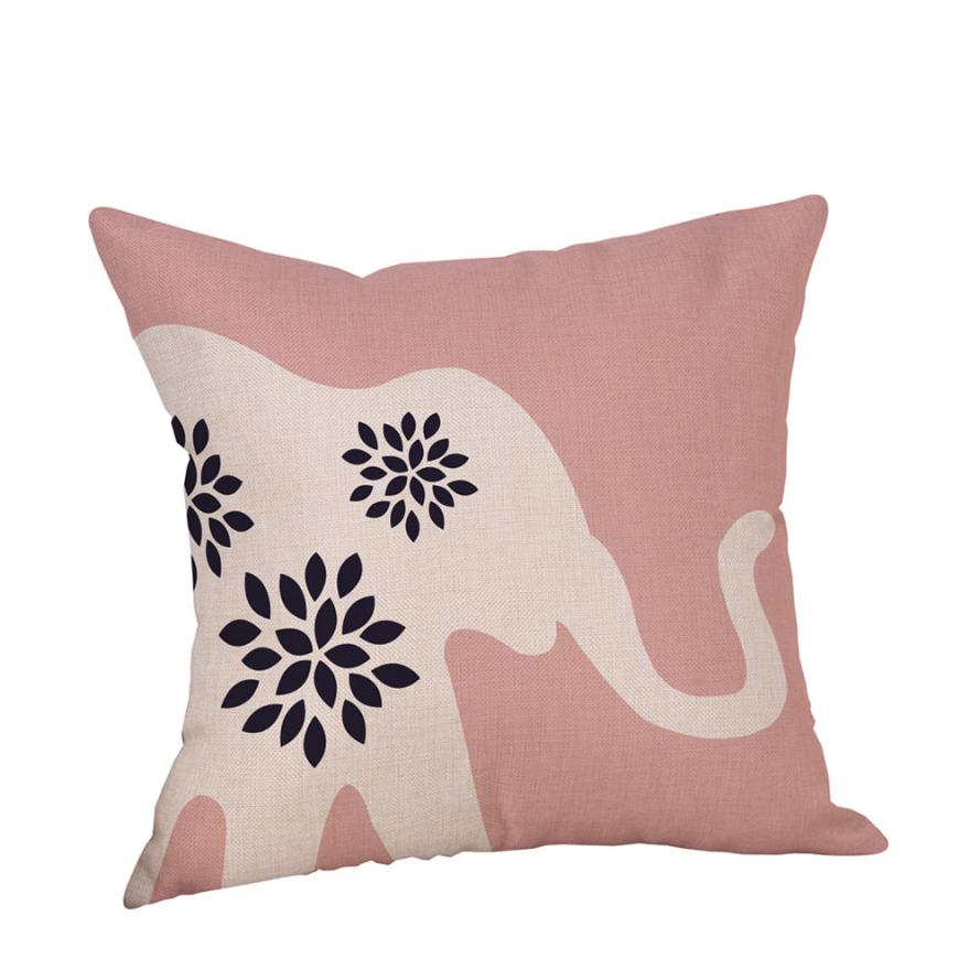 Geometric Animal Pillowcase Linen Throw Pillow Case Nordic Decorative Pillows For Sofa S ...