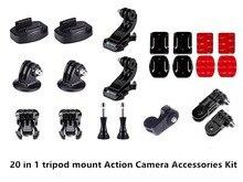 Kit Acessórios para Sony RX0 20 em 1 II RX0M2 X3000 X1000 AS300 AS200 AS100 AS50 AS30 AS20 AS15 AS10 AZ1 mini POV Ação Cam
