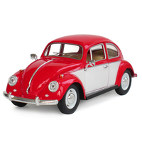 KiNSMART 1 24 Beetle Car Toy Die Cast Metal ABS Simulation 1967 Classical Beetle Model Cars