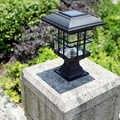 Güneş kolon kafa ışık LED sütun kapağı su geçirmez açık alan aydınlatması dekoratif duvar lambası avlu enerji kablolama olmadan WWO66
