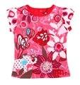 Catimini 2016 novo da menina Catimini vermelho impresso t-shirt de manga CURTA T-shirt das meninas catimini meninas roupas 3