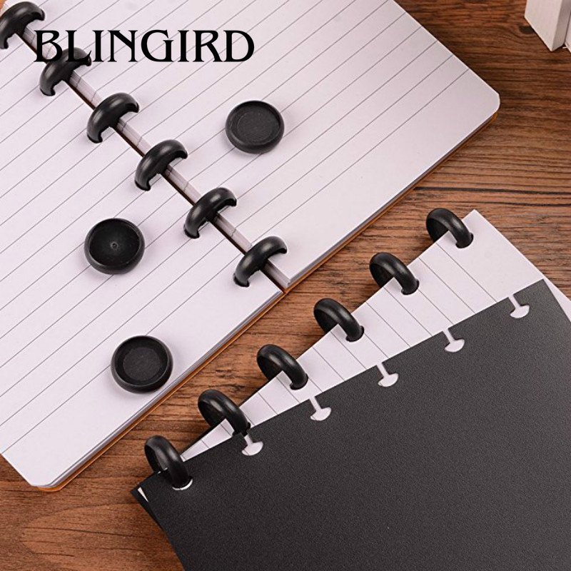 24mm Plastic Disc-binding Loose Book Binding Ring Disc Arc Binding Notebook Arc Binding Notebook T Mushroom Hole Office Supplies