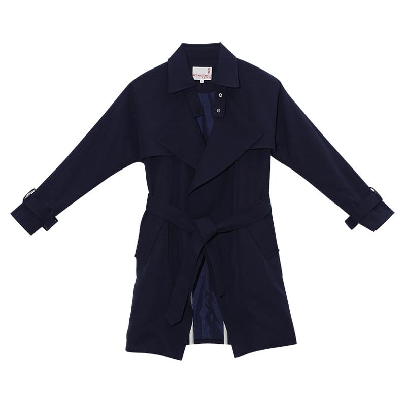 Toyouth Плащ 2017 Весна Женщины Пальто с Отложным Воротником Британский Стиль Средней Длины Outwears Пальто