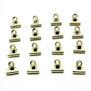 10 PCS Affordable Golden Tone Metal Office Paper Document Binder Clips 22mm(China)
