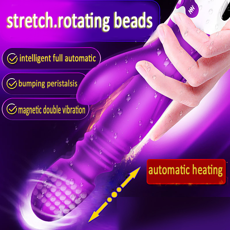 Telescopic Heating Dildo Vibrator For Woman Clitoral Stimulator Massager Vibrators  Erotic Sex Toys for Women Female MasturbatorTelescopic Heating Dildo Vibrator For Woman Clitoral Stimulator Massager Vibrators  Erotic Sex Toys for Women Female Masturbator