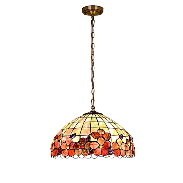 Modern tiffany pendant light metal chain shell cover lighting modern tiffany pendant light metal chain shell cover lighting fixture bedroom living room dining room hanging aloadofball Image collections