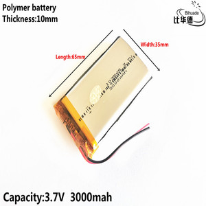 Image 4 - Good Qulity Liter energy battery 3.7V,3000mAH 103565 Polymer lithium ion / Li ion battery for tablet pc BANK,GPS,mp3,mp4