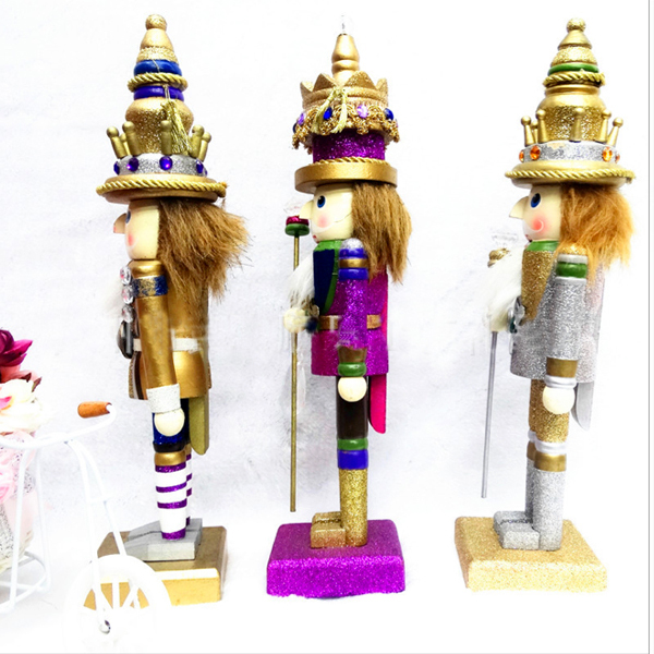 D324 Free shipping 25cm palace puppet version of The Nutcracker soldier doll toy , wood hand-painted walnut Movable doll puppets ht025 free shipping movable doll puppets 13cm hardcover box painted walnut wooden nutcracker children christmas toy 2pcs lot