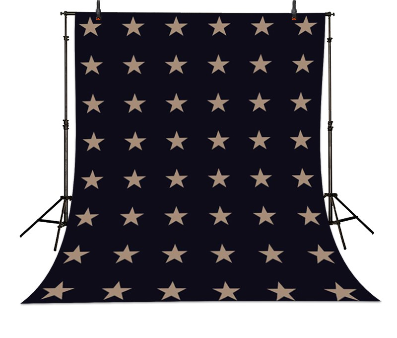 Clouds Dark Blue Five Pointed Star photo backdrop Vinyl cloth High quality Computer printed christmas Backgrounds