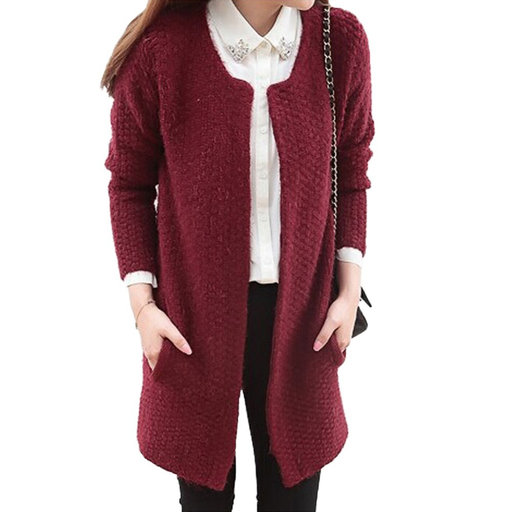 100  [ Knit Cardigan Sweater ] | Wool Cashmere Tweed Chunky Knit ...