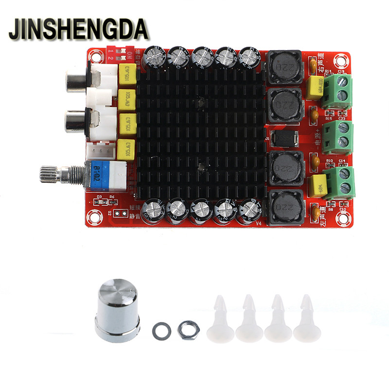 JINSHENGDA  Amplifier TDA7498 2x100W Digital Power Amplifier Board Class D Dual Audio Stereo DC 14-34V
