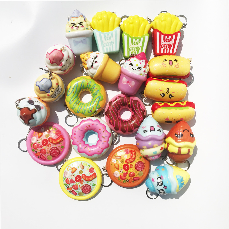 Responsible Funny Cute Kawaii Charms Squishy Artificial Bread Croissant Loaf Cake Bun Donuts Anti Stress Anxiety Random Style Mobile Phone Accessories