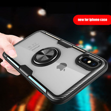 Luxury Armor Ring Case For iPhone 6 6S 7 8 Plus XS Cover  X Xs Max XR Shockproof Full Back